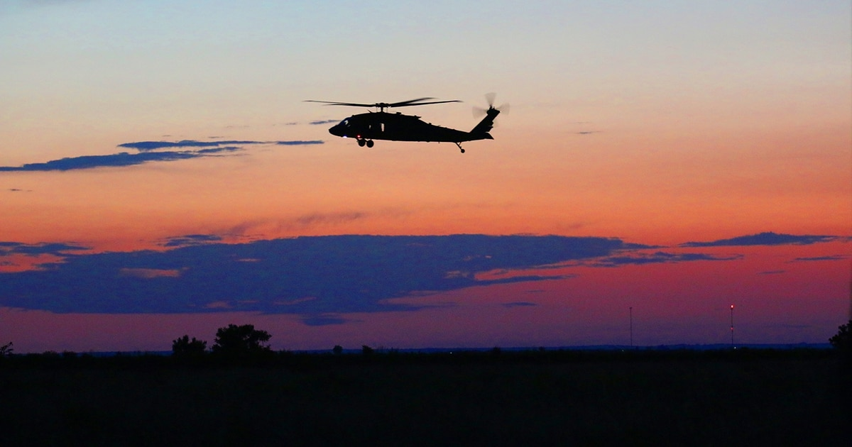 Black Hawk helicopter missing after takeoff in Minnesota