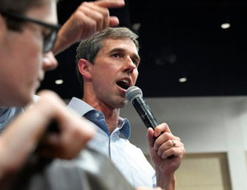 Democratic presidential candidate Beto O'Rourke proposed a 'war tax' to cover the costs of caring for those who serve in future wars by taxing those who don't. (AP Photo/Meg Kinnard)