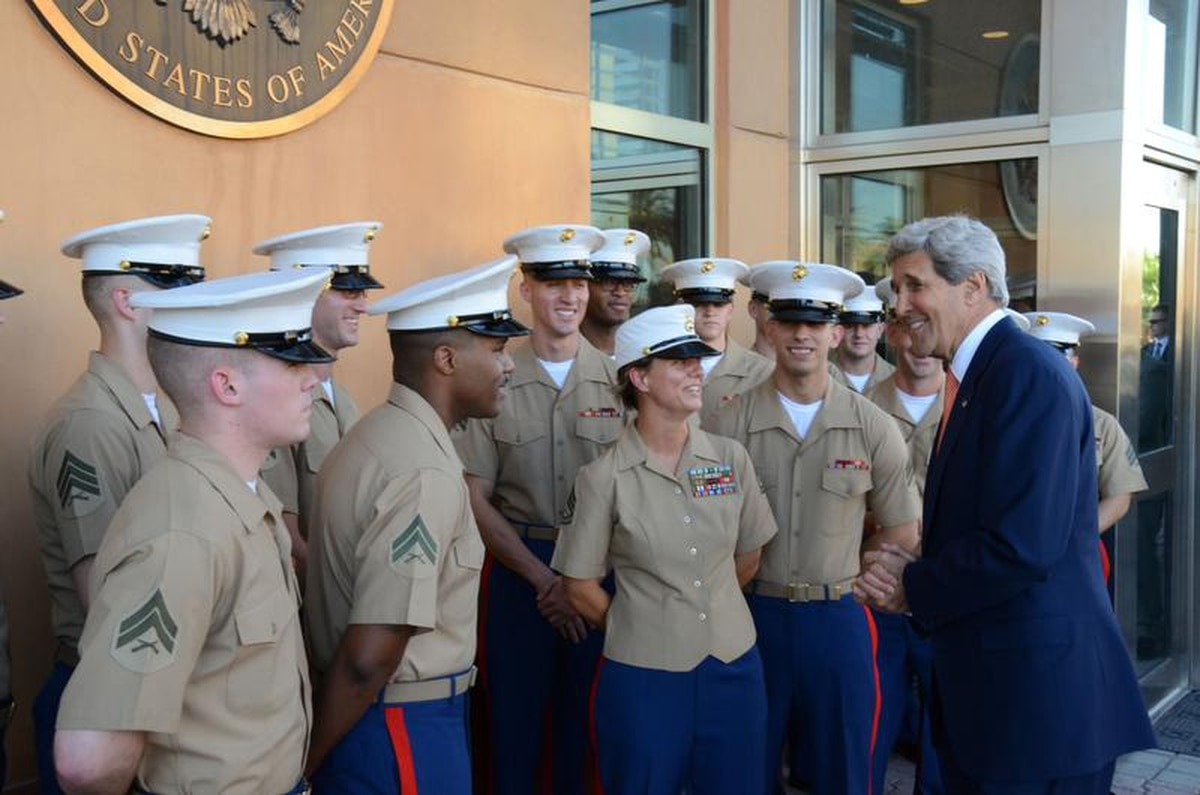 Kerry issues birthday message to Marines