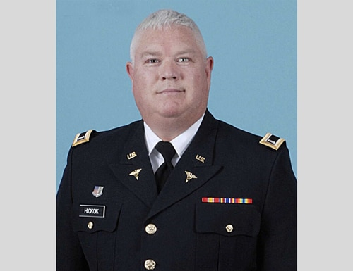 New Jersey National Guard Capt. Douglas Linn Hickok died Monday, becoming the first service member to succumb from COVID-19