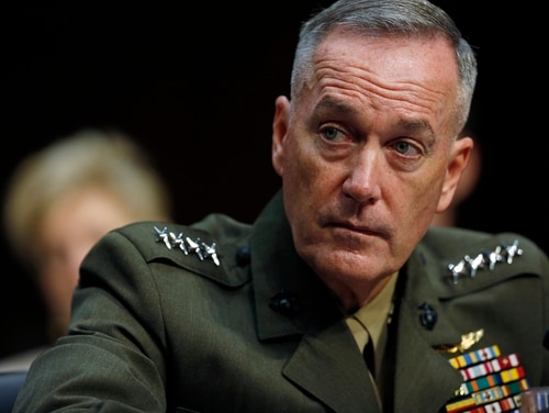 Gen. Joseph Dunford attends a hearing before the Senate Armed Services Committee in 2015. (Mike Morones)