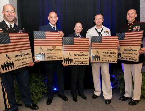 Past winners of the Military Times Service Members of the Year Awards (Staff photo)