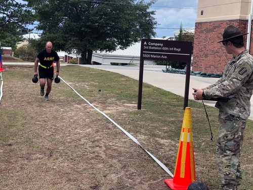 Spc. Benjamin Ritchie became the third soldier to max the Army Combat Fitness Test on Oct. 21. (Army)