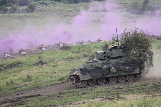 The U.S. Army's fleet of Bradley Infantry Fighting Vehicles, shown, was to be replaced, but the service is taking a