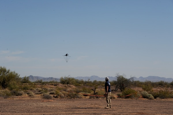 The Griffon participates in the U.S. Army's counter-small UAS demonstration at Yuma Proving Ground, Ariz., in April 2021.