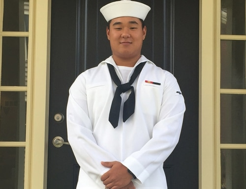 Aviation Boatswain's Mate (Handling) Airman Apprentice Joseph Min Naglak was struck and killed by a spinning aircraft propeller on the aircraft carrier George H.W. Bush on Sept. 17, 2018. (Navy)