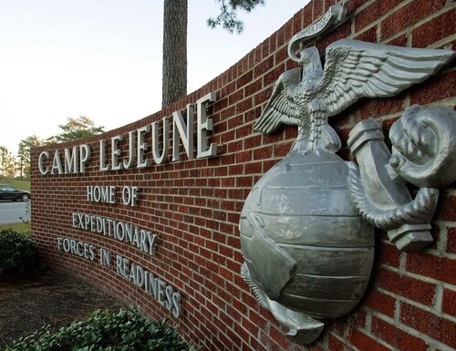 The Marine, assigned to 3rd Battalion, 6th Marines, was injured Thursday while in the barracks. (Gerry Broome/The Associated Press)