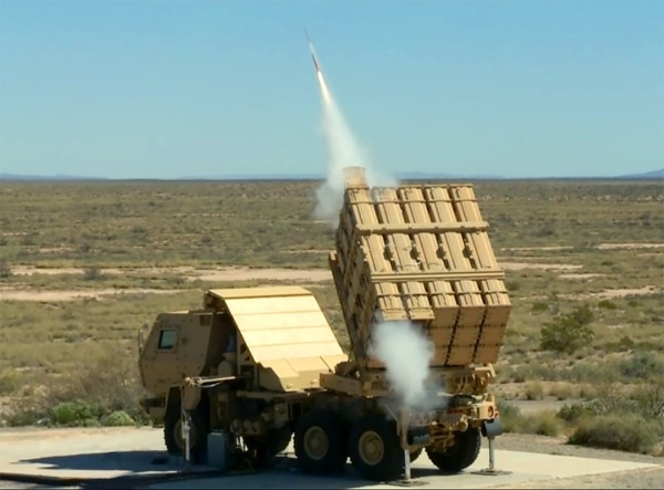 The Army successfully fired a Miniature Hit-to-Kill missile on April 4, 2016, as part of an engineering demonstration of the Indirect Fire Protection Capability Increment 2-Intercept. (Michael Smith/Army)