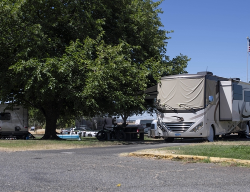 Soldiers aren't the only ones with problems this summer. Shown here, recreational vehicles sit parked in Family Camp June 22, at Beale Air Force Base, Calif. As an initiative to battle the current low housing inventory in Northern California, Beale created approximately 30 permanent spots in the campground for airmen. This is in addition to the limited number of houses on base. (Airman 1st Class Jason W. Cochran/Air Force)