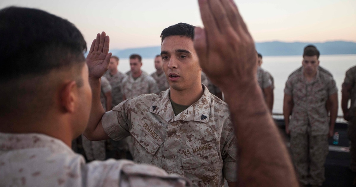First Term Marines Are Slow To Sign On For Another Enlistment