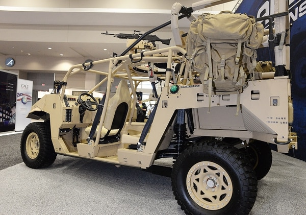Photo by Dan Gross / For Defense News Polaris Dagor ultra-light weight vehicle at the 2015 Association of the United States Army Annual Meeting and Exposition. Tuesday October 13, 2015. Walter E Washington Convention Center, Washington, D.C.