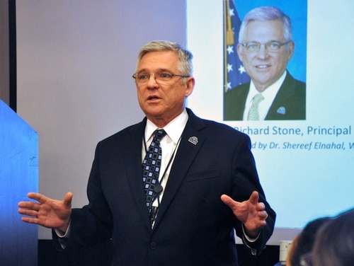 Dr. Richard Stone, then VA's principal deputy under secretary of health, speaks at a planning summit in March 2016. Stone returns to VA this week as the new acting head of VA health operations. (Kate Viggiano/Veterans Affairs)