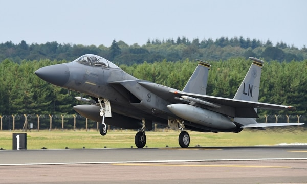 Air Force Secretary Heather Wilson pushed back on reports that the service was considering a new version of the F-15 to replace its legacy F-15C/Ds. (Staff Sgt. Alex Fox Echols III/U.S. Air Force)
