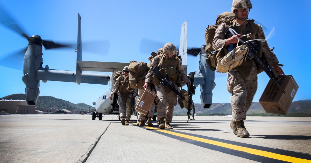 More than 1,000 Pendleton Marines are headed for the U.S.-Mexico border