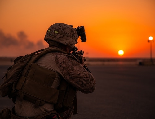 While not necessarily postured to operate daily below the level of armed conflict, the military must learn how to do so in order to defeat adversary advances. (Lance Cpl. Andrew Skiver/Marine Corps)