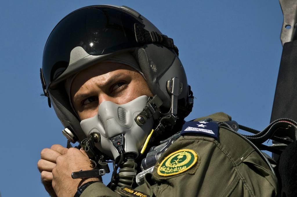A Royal Saudi air force F-15 Strike Eagle pilot