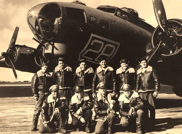 The aircrew of the B-17G Flying Fortress nicknamed