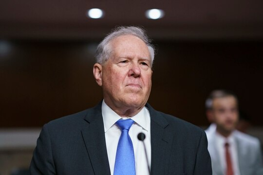 Frank Kendall III, President Joe Biden's nominee to be secretary of the Air Force, appears for his confirmation hearing before the Senate Armed Services Committee, at the Capitol in Washington, Tuesday, May 25, 2021. (AP Photo/J. Scott Applewhite)