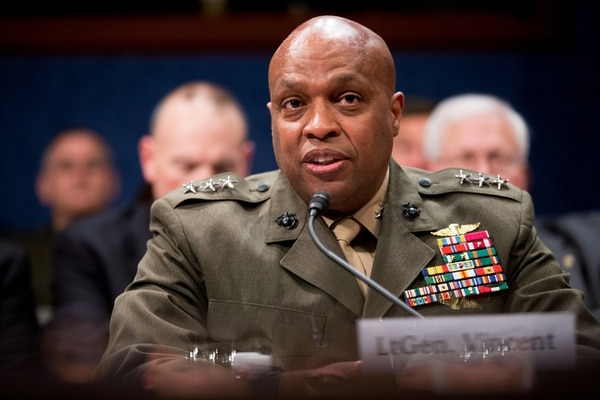 Defense Intelligence Agency Director Lt. Gen. Vincent Stewart speaks at a House Intelligence Committee hearing on world wide threats on Capitol Hill in Washington, Thursday, Feb. 25, 2016. (AP Photo/Andrew Harnik)