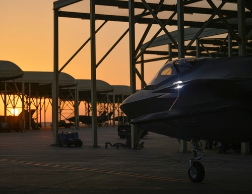 In this April 24, 2019, file photo released by the U.S. Air Force, an F-35A Lightning II fighter jet prepares to taxi and take off from Al-Dhafra Air Base in the United Arab Emirates, on April 24, 2019. (Staff Sgt. Chris Drzazgowski/U.S. Air Force via AP)