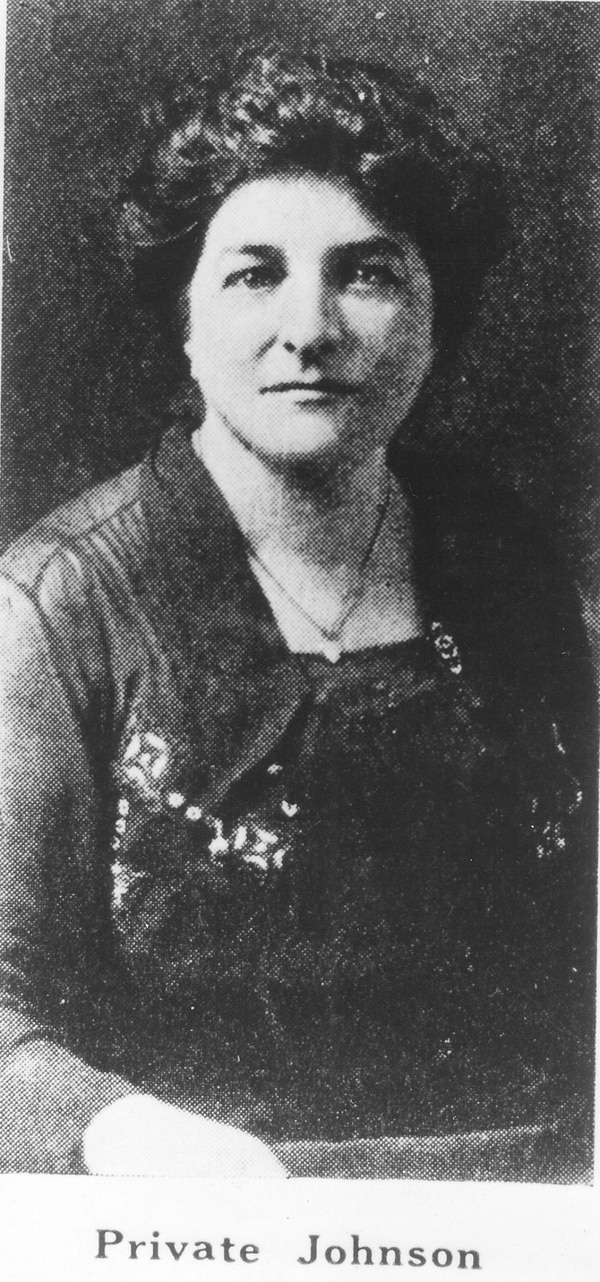 Opha May Johnson enlisted in the Marine Corps on Aug. 13, 1918, making her the first woman to join the service's ranks. (Marine Corps History Division)