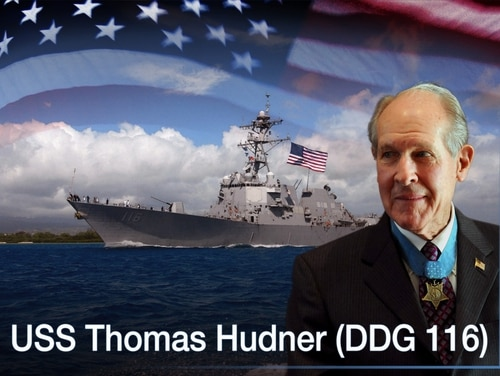 The destroyer is named after Medal of Honor recipient Capt. Thomas