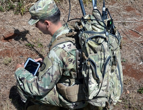 The U.S. Army wants to use millimeter waveforms to better protect communications. (Staff Sgt. Armando R. Limon/Army)