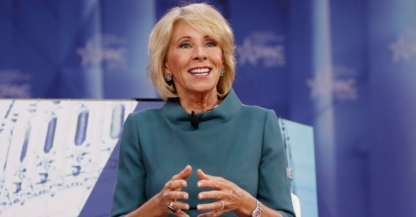 Education Secretary Betsy DeVos discussed school choice for military families as part of her remarks last week at the Conservative Political Action Conference. (Jacquelyn Martin/AP)