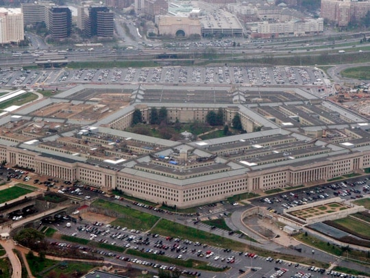 In this March 27, 2008, file photo, an aerial view of the Pentagon. (Charles Dharapak/AP)