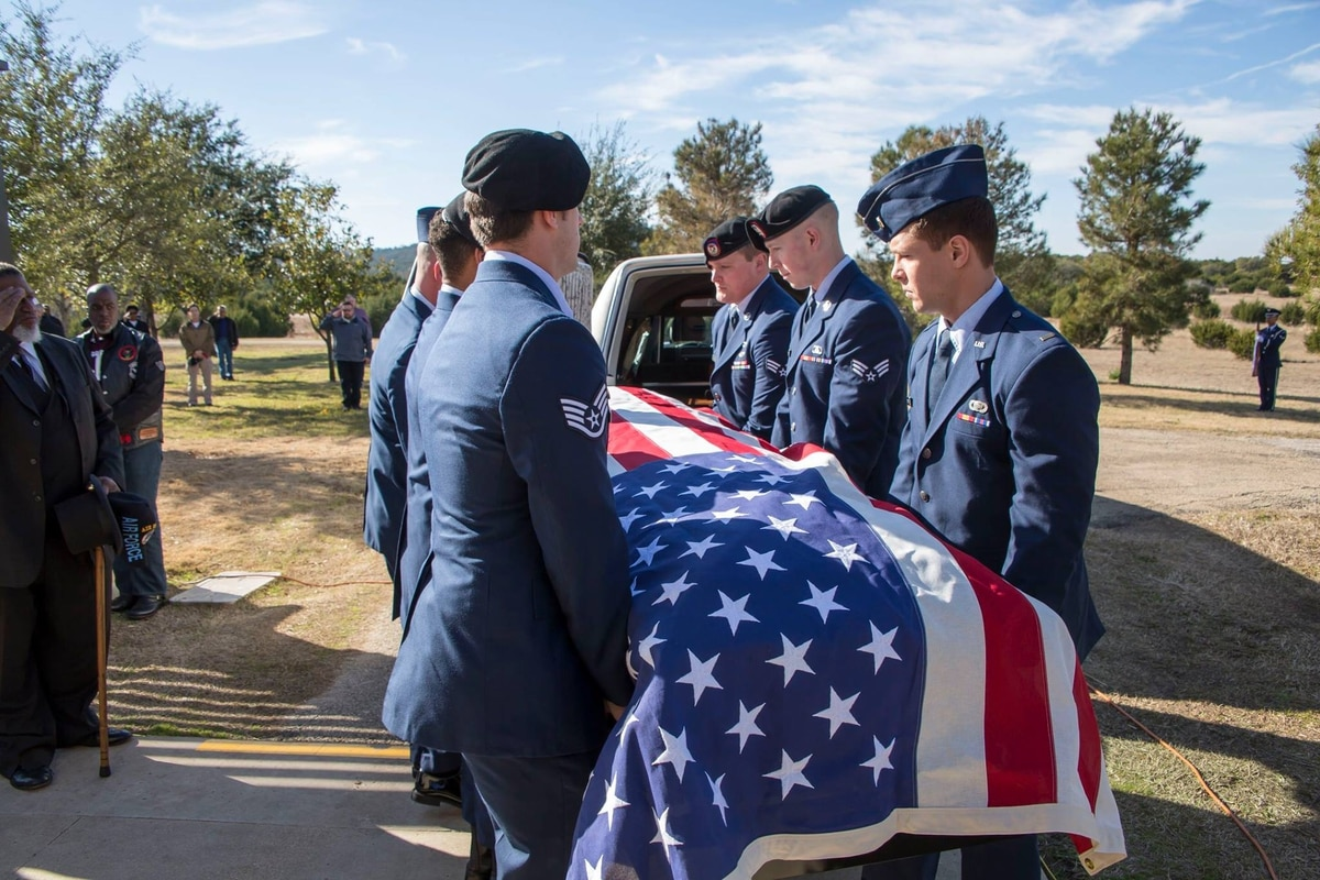 69094d74ab7 An Air Force vet died with no known family. Thousands of strangers came to  his funeral in Texas to say goodbye.