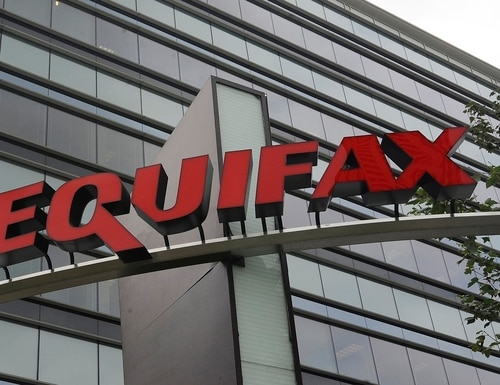 This July 21, 2012, photo shows signage at the corporate headquarters of Equifax Inc. in Atlanta. The deadline to seek cash payments and claim free services as part of Equifax's $700 million settlement over a massive data breach is Wednesday, Jan. 22, 2020. (Mike Stewart/AP)