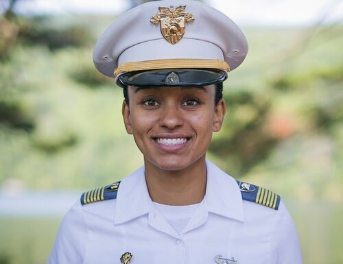 West Point Cadet Simone Askew poses for a photo on Aug. 3, 2017. (Austin Lachance/Army via AP)