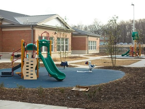 DoD officials are considering the possibility of transferring control of the 47 stateside schools for military children to local school districts. The proposal would test the idea at the two Quantico schools, including Crossroads Elementary School. (Sean Murphey/DoDEA)