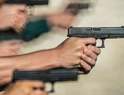 For decades the FBI claimed the .40 Smith & Wesson was the optimal personal defense round. But the 9mm versus .40S&W battle rages on. (Photo by FBI)