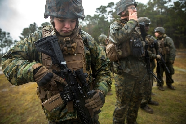 "The Corps is starting to designate one ­Marine in each infantry squad as a ""marksman"" and providing that Marine with an M38 rifle. (Lance Cpl. Michaela Gregory/Marine Corps)"