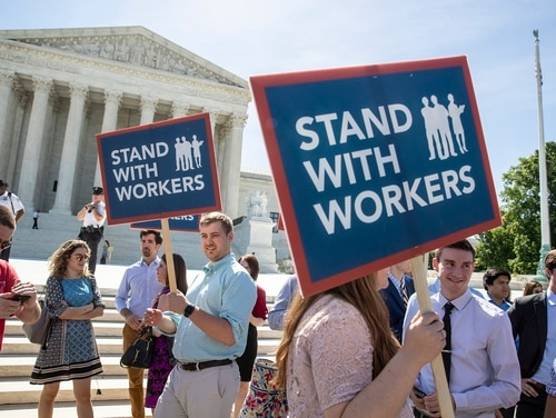 President Joe Biden has promised to be a pro-union president, and federal labor leaders expect a robust enforcement of that policy. (J. Scott Applewhite/AP)
