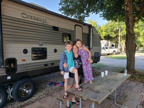 The Vinales family is one of eight military families suing Hunt Military Communities in connection with their mold-infested home at Randolph Air Force Base, Texas. Earlier this year, the family decided to stay in their recreational vehicle while their house at Randolph was being being treated for mold, to provide a fun, comfortable