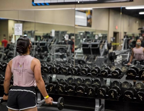 The Marine Corps Air Station Yuma, Ariz., gym reopend on April 24 with extra precautions set in place to keep service members and gym employees safe. (Cpl. Nicole Rogge/ Marine Corps)