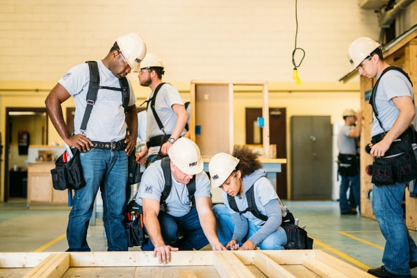 Service members who go through the skills training at Fort Stewart receive a pre-apprenticeship certification recognized by the Labor Department, as well as resume and job placement help. (The Home Depot Foundation)