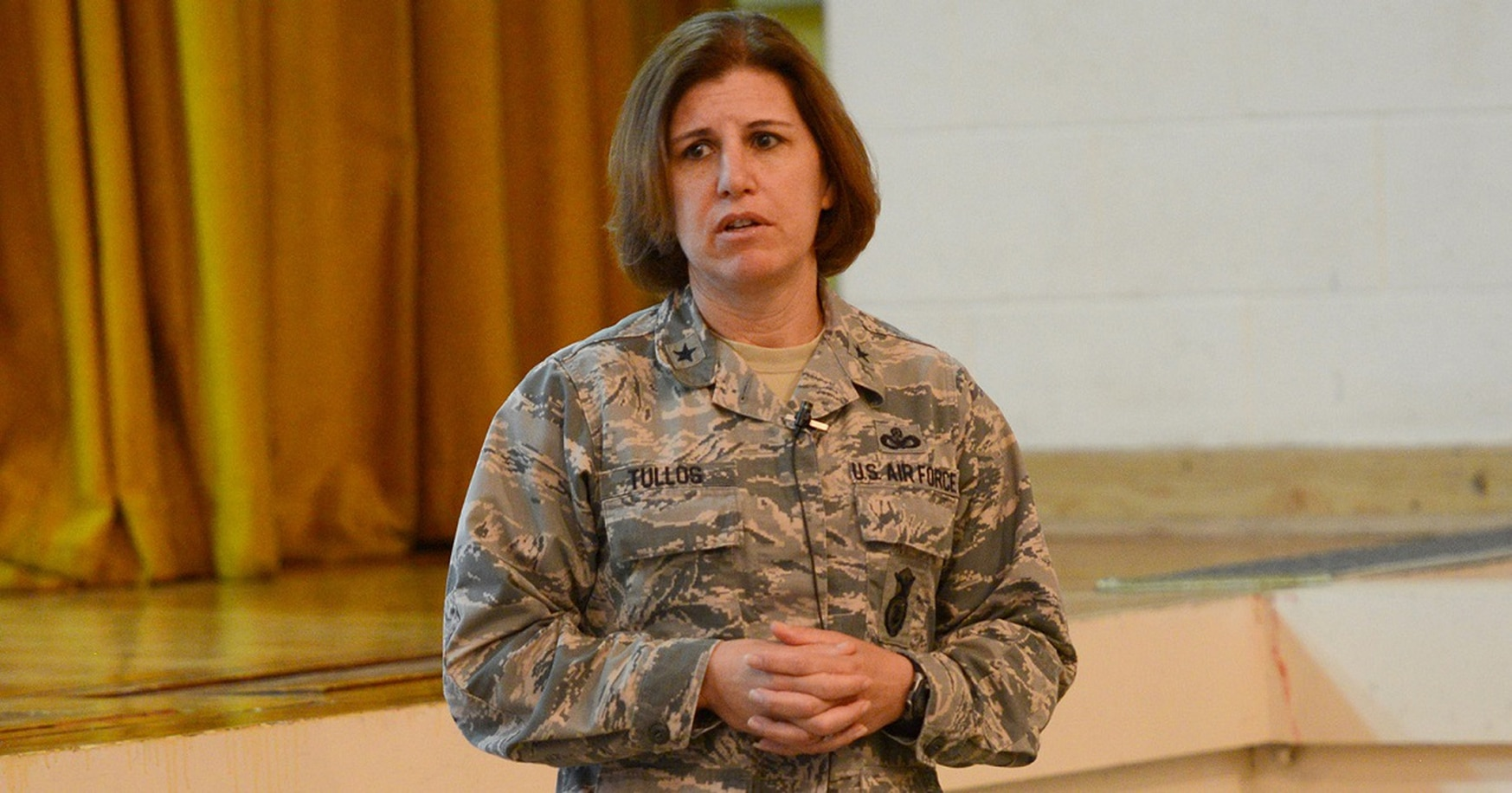 "The breach at RAF Mildenhall ""was something of a wake-up call for us,"" said Brig. Gen. Andrea Tullos, the Air Force's director of security forces, in an Aug. 9 interview at the Pentagon. (Air Force)"