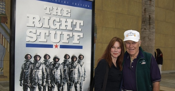 General Chuck Yeager and actress Barbara Hershey attend a special 20th Anniversary screening and DVD release of