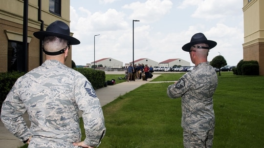 "The Air Force Officer Training School is preparing for the arrival of what it's calling the ""Godzilla"" class, which will include 810 officer trainees. (Air Force)"