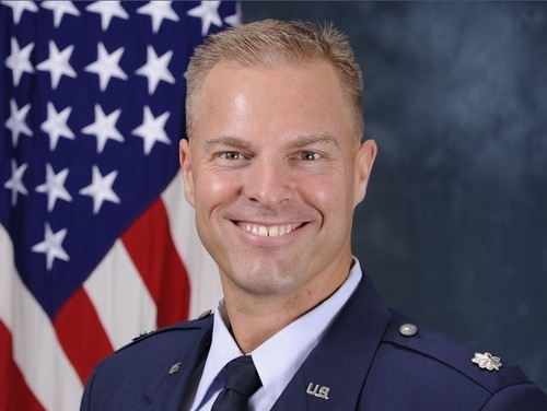 Col. Jason Costello, shown here as a lieutenant colonel, is scheduled to face a court-martial at Peterson Air Force Base, Colorado, on charges of sexual assault and assault. Costello is assigned to the training and exercises directorate of NORAD/NORTHCOM. (Air Force)