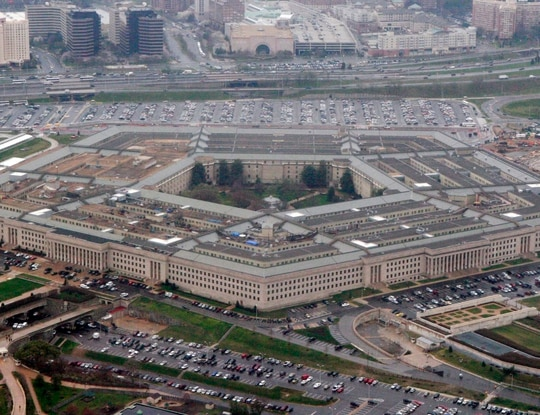 A man was arrested after acting suspiciously in the Pentagon's north parking lot. (Charles Dharapak/AP)