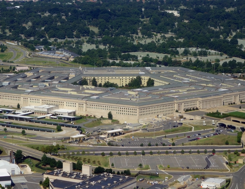 The Pentagon is seen from the air over Washington in 2013. (Saul Loeb/AFP via Getty Images)