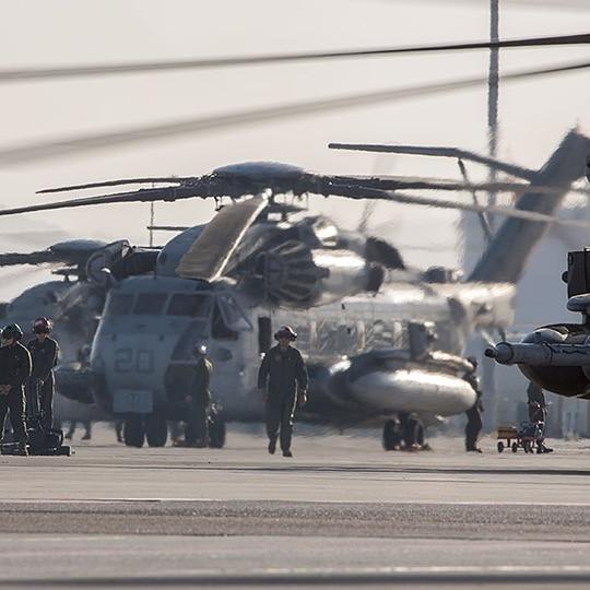 Marines prepare for takeoff at Marine Corps Air Station Yuma, Ariz. (Lance Cpl. Ashley McLaughlin/Marine Corps)