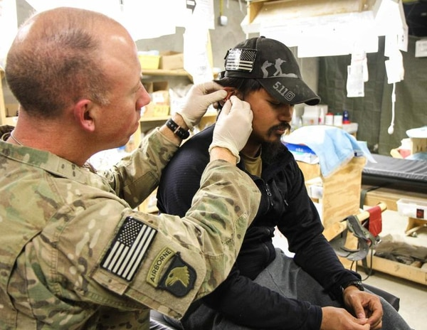 In Paktya Province, Afghanistan, 1st Lt. Robert Blume, the physician assistant for 1st Battalion, 187th Infantry Regiment, 3rd Brigade Combat Team