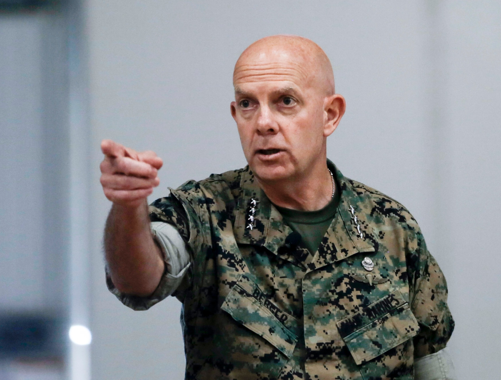 Commandant of the Marine Corps Gen. David Berger rejected criticism that his plan was too narrowly focused. (Warrant Officer Bobby J. Yarbrough/U.S. Marine Corps)