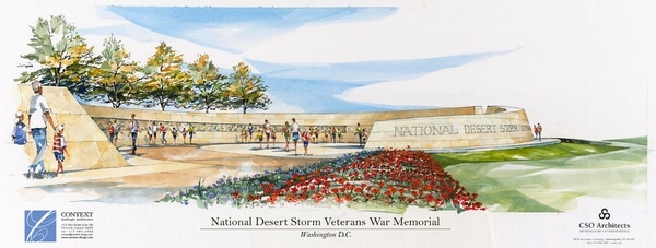 The National Desert Storm War Memorial is the