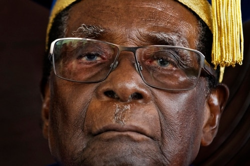 Robert Mugabe's resignation brought an end to impeachment proceedings brought by the ruling ZANU-PF political party. (Ben Curtis/AP)